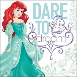 Ariel The Little Mermaid Dream Big Large Napkins (16)