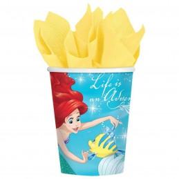 Ariel The Little Mermaid Dream Big Paper Cups (8)
