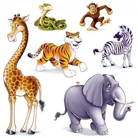 Jungle Animals Plastic Wall Decorations (6)