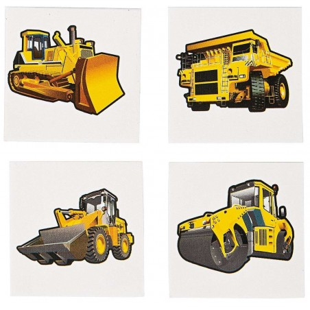 Construction Zone Tattoos (Set of 36)