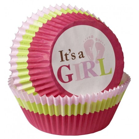 It's A Girl Baking Cups (Pack of 75)