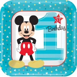 Mickey Mouse 1st Birthday Small Plates (Pack of 8)