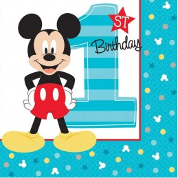 Mickey Mouse 1st Birthday Small Napkins (16)