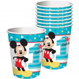 Mickey Mouse 1st Birthday Paper Cups (8)