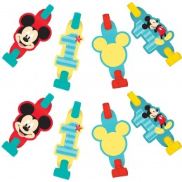 Mickey Mouse 1st Birthday Party Blowouts (Pack of 8)
