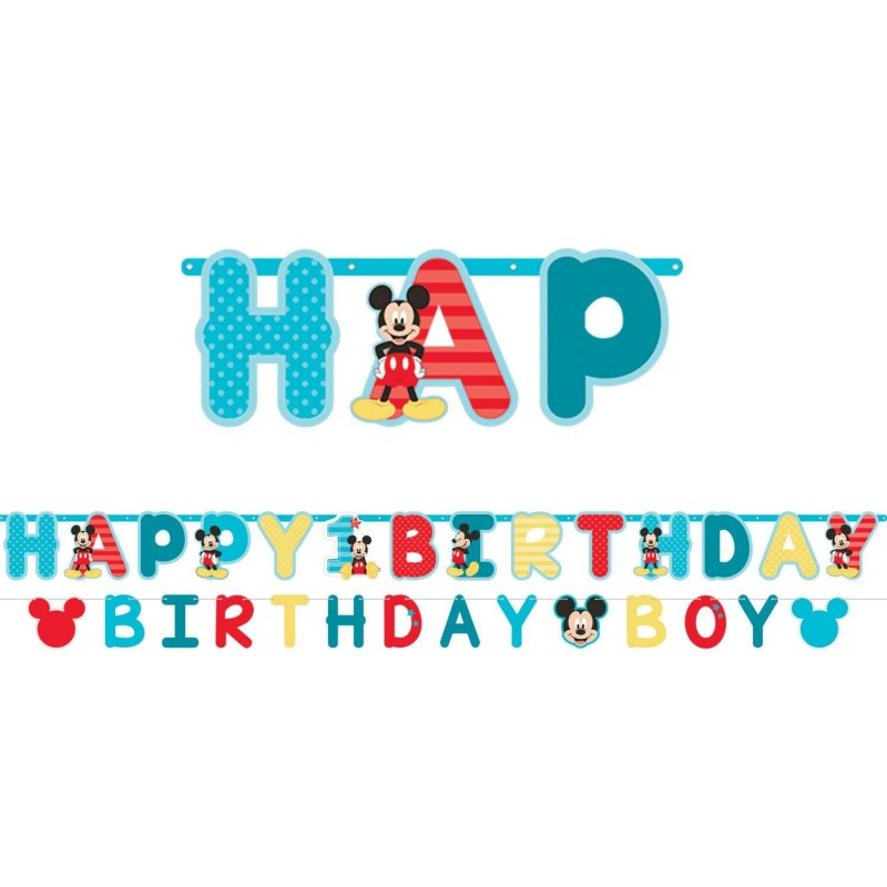 Mickey Mouse 1st Birthday Party Banner Kit