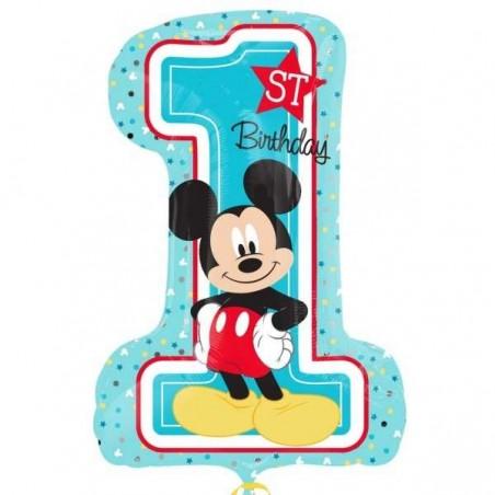 Mickey Mouse 1st Birthday Supershape Balloon