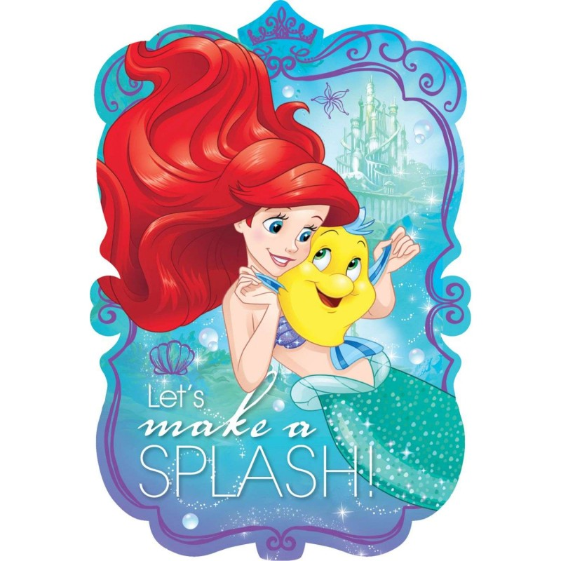 Ariel The Little Mermaid Party Invitations 8 Who Wants 2 Party