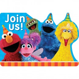 Sesame Street Invitations (Pack of 8)