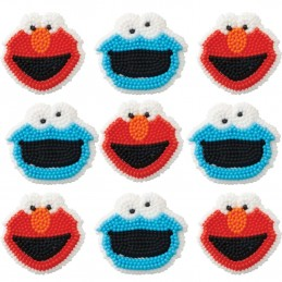 Sesame Street Icing Decorations (Set of 9)