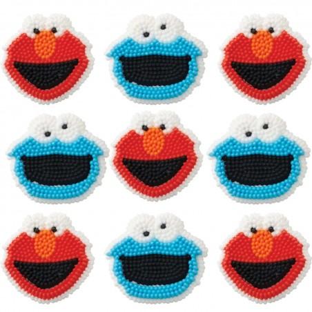 Sesame Street Icing Decorations (Set of 9)