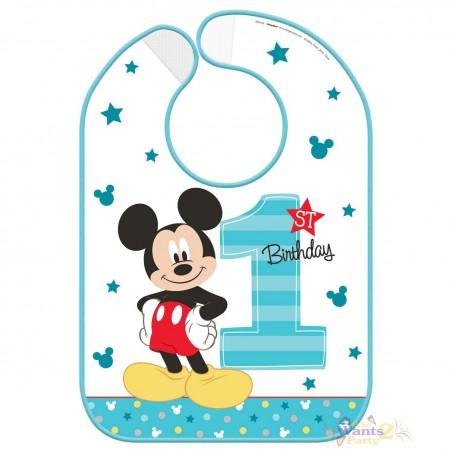 Mickey Mouse 1st Birthday Bib