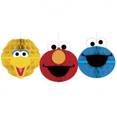 Sesame Street Honeycomb Decorations (Pack of 3)
