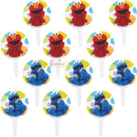 Sesame Street Cupcake Picks (Pack of 12)