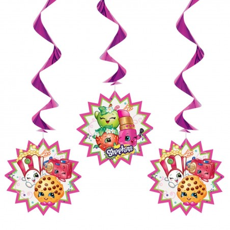 Shopkins Swirl Decorations (Pack of 3)