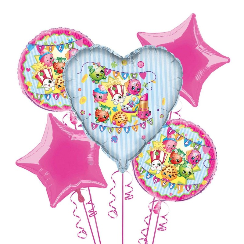 Shopkins Balloon Bouquet (Set of 5)