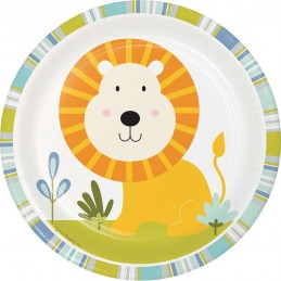 Happy Jungle Lion Small Plates (Pack of 8)