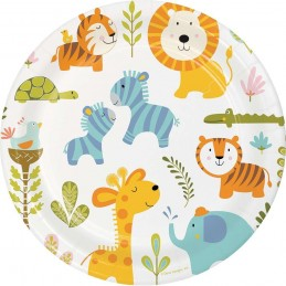 Happy Jungle Large Plates (Pack of 8)