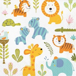 Happy Jungle Large Napkins (Pack of 16)