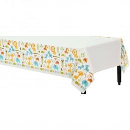 Happy Jungle Plastic Tablecloth