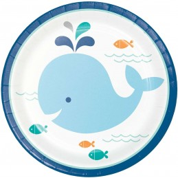 Blue Baby Whale Small Plates (Pack of 8)