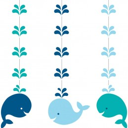 Blue Baby Whale Hanging Decorations (Set of 3)