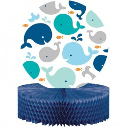 Blue Baby Whale Honeycomb Centrepiece