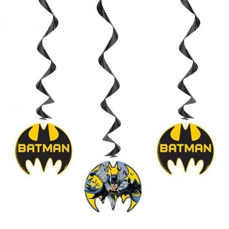 Batman Swirl Decorations (Set of 3)