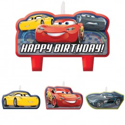 Cars 3 Birthday Candles (Set of 4)