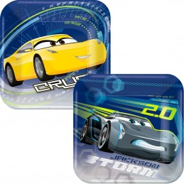 Cars 3 Small Plates (Pack of 8)
