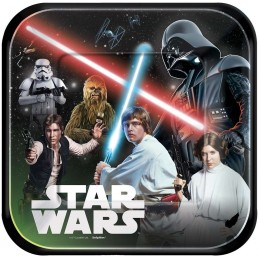 Star Wars Large Plates (Pack of 8)