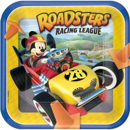 Mickey Mouse Roadster Large Plates (Pack of 8)