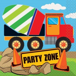Construction Party Small Napkins (Pack of 16)
