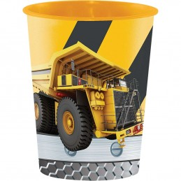 Construction Zone Large Plastic Cup