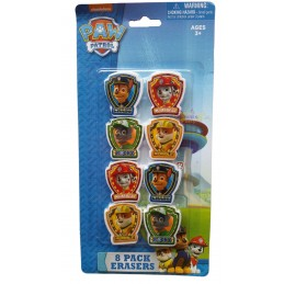 Paw Patrol Erasers (Set of 8)