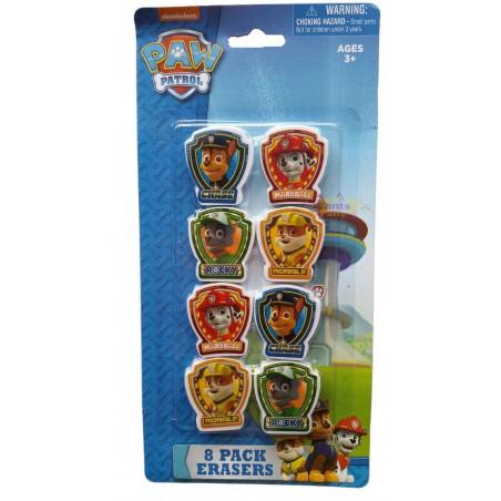Paw Patrol Erasers (Set of 8)