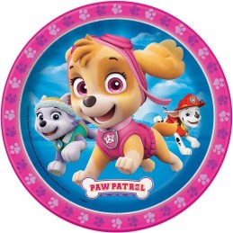 Paw Patrol Girl Small Plates (Pack of 8)