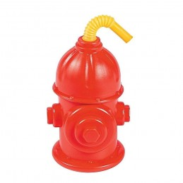 Fire Hydrant Cups with Straws (Pack of 8)