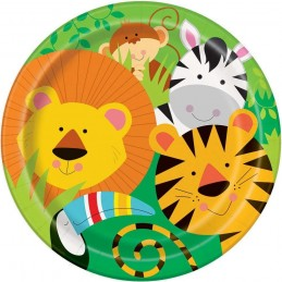 Animal Jungle Large Plates (Pack of 8)