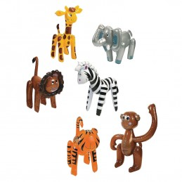 Inflatable Zoo Animals (Pack of 6)