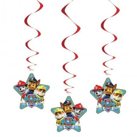 Paw Patrol Swirl Decorations (Pack of 3)