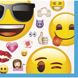 Emoji Small Napkins (Pack of 16)