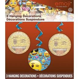 Emoji Swirl Decorations (Set of 3)