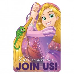 Disney Rapunzel Party Invitations (Pack of 8)