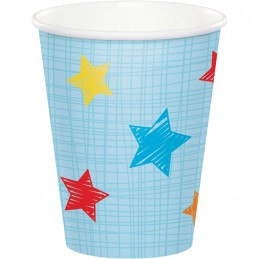 Boys Jungle 1st Birthday Paper Cups (Pack of 8)