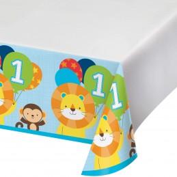 Boys Jungle 1st Birthday Plastic Tablecloth