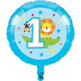 Boys Jungle 1st Birthday Foil Balloon