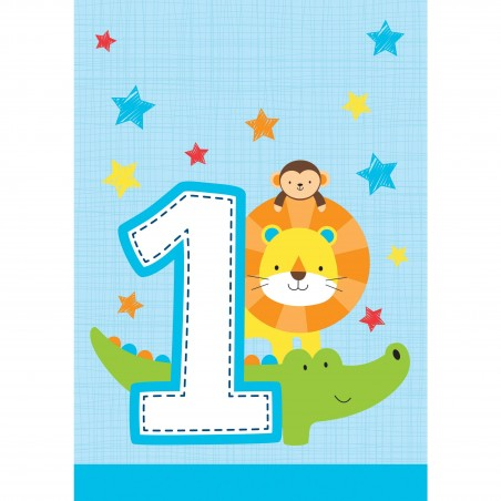 Boys Jungle 1st Birthday Loot Bags (Pack of 8)
