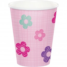 Girls Jungle 1st Birthday Paper Cups (Pack of 8)