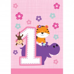 Girls Jungle 1st Birthday Loot Bags (Pack of 8)